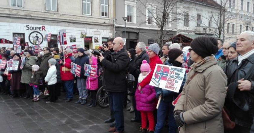 miting cluj familia bodnariu norvegia