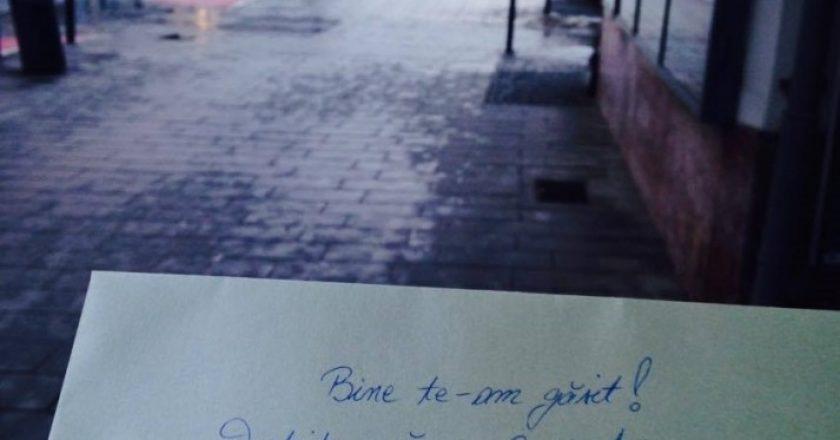 Scrisori cu mesaje motivaţionale răspândite prin Cluj