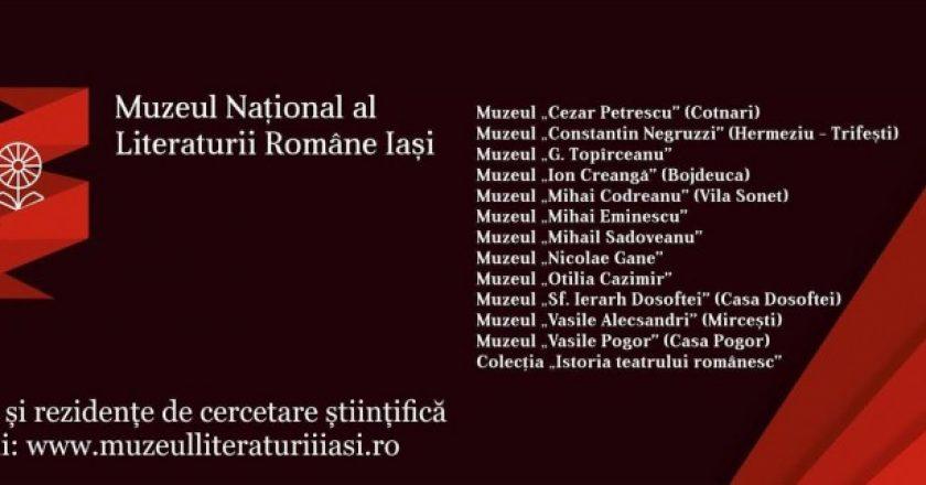 burse Muzeul Național al Literaturii Române Iași