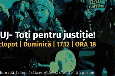 """Un nou protest la Cluj: """"Toţi pentru justiţie"""""""