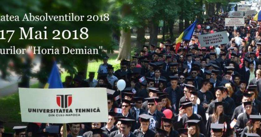 Festivitatea Absolvenților Universității Tehnice din Cluj-Napoca va avea loc joi