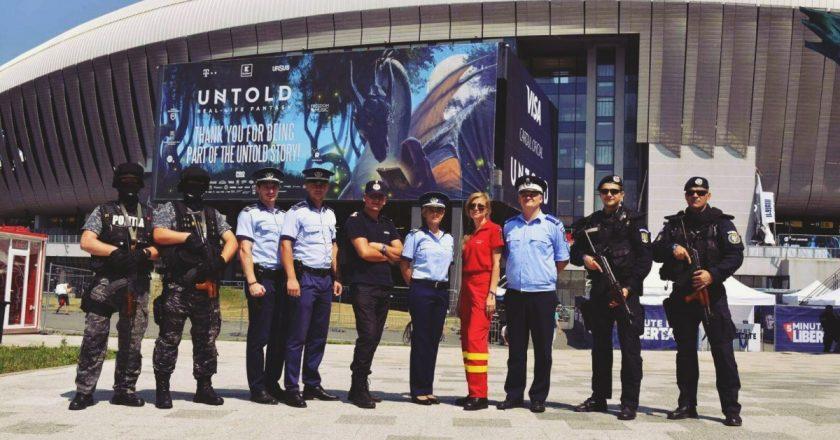 Peste 1200 de jandarmi, poliţişti, pompieri clujeni vor fi la datorie în perimetrul festivalului UNTOLD