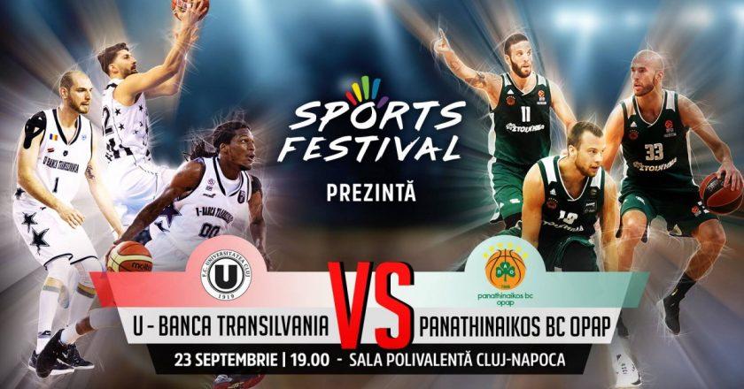 U BT Cluj-Napoca va juca un meci amical cu Panathinaikos, campioana Greciei