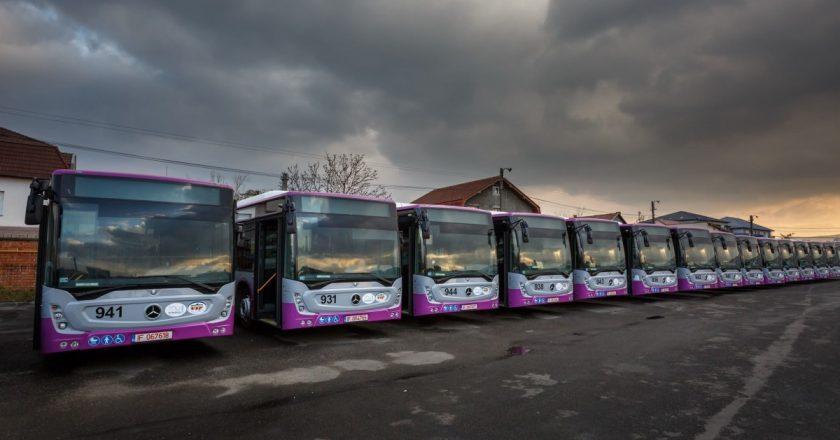 60 de autobuze noi Mercedes pentru transportul public vor fi puse în circulaţie, până la sfârşitul anului, în Cluj-Napoca