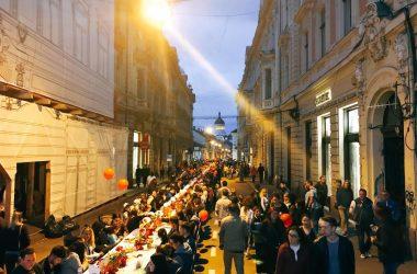 """""""Strada în oglindă"""" din Cluj transformată în pietonală pe bani europeni"""