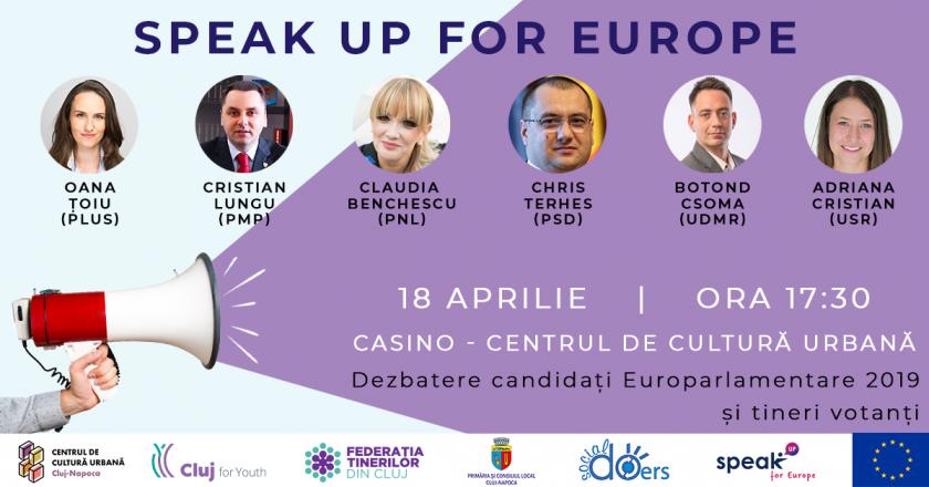 Candidații la Alegerile Europarlamentare în dialog cu tinerii din Cluj