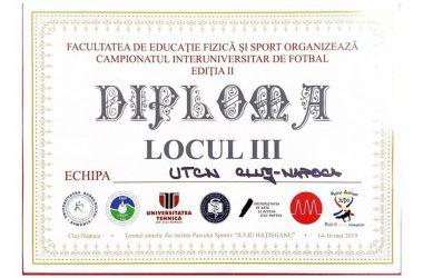 Campionatul Interuniversitar de Fotbal: echipa Universităţii Tehnice Cluj s-a clasat pe locul al treilea
