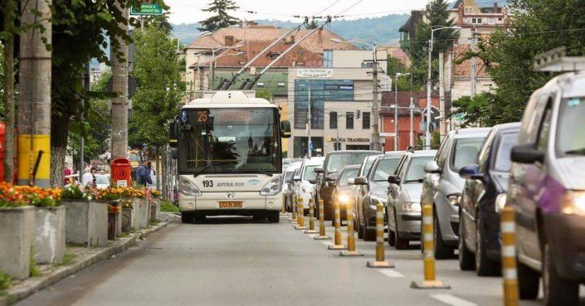 Se extinde banda dedicată transportului în comun din cartierul Gheorgheni