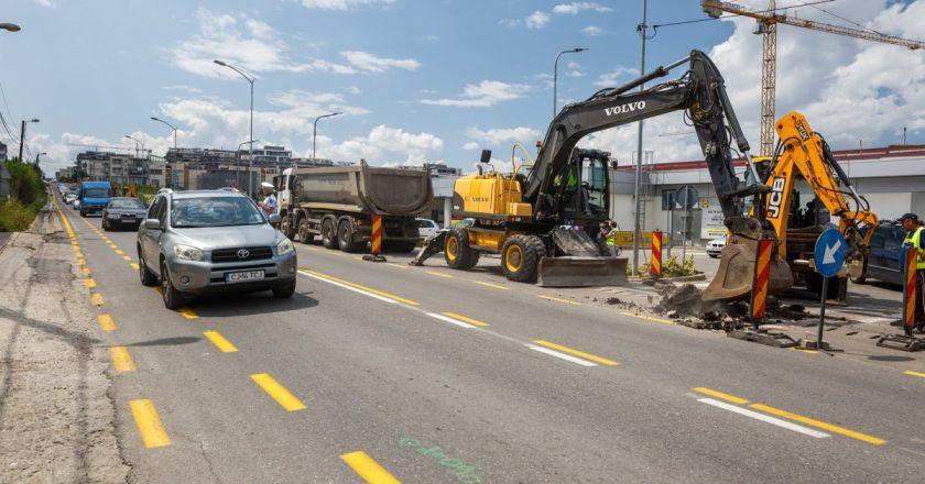 Au început lucrările de supralărgire și modernizare pe strada Bună Ziua din Cluj