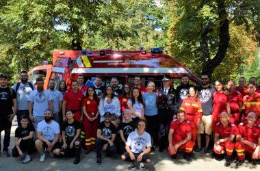 Cadou pentru ISU Cluj de Ziua Pompierilor: Beard Brothers le-a donat cea de-a doua ambulanță SMURD