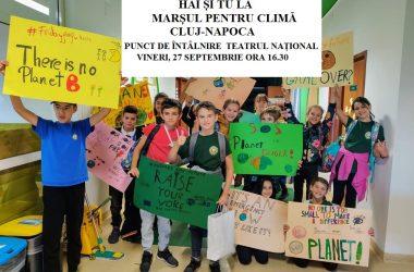 """Tinerii din Cluj ies vineri în stradă într-un ,,Marș pentru Climă"""""""