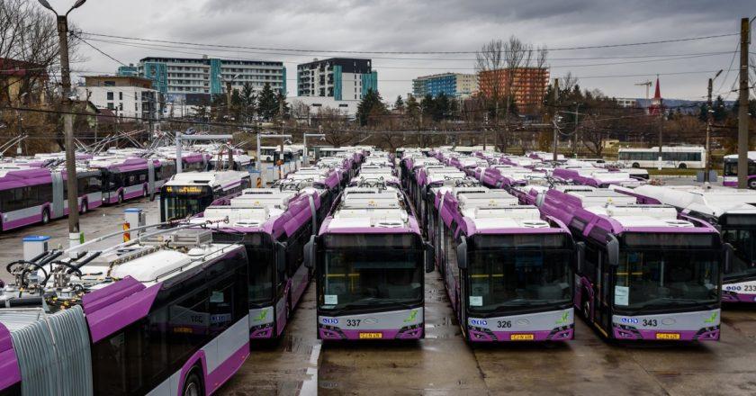 25 de troleibuze noi au fost puse în circulație pe străzile din Cluj-Napoca