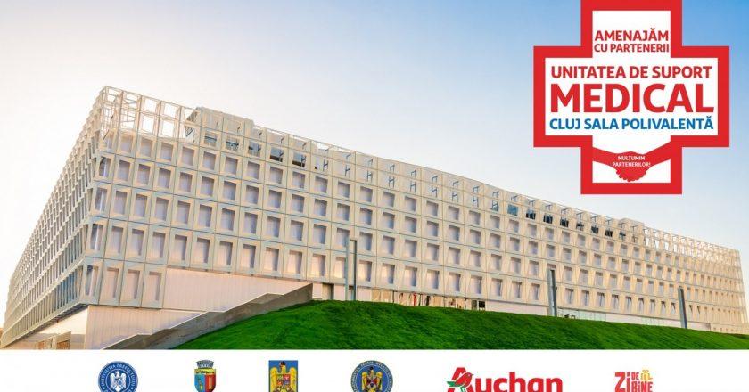 Sala Polivalentă din Cluj - transformată într-un centru de spitalizare pentru bolnavii de COVID-19