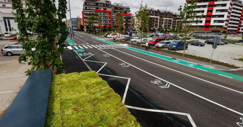 Lucrările de supralărgire și modernizare pe strada Bună Ziua din Cluj au fost finalizate