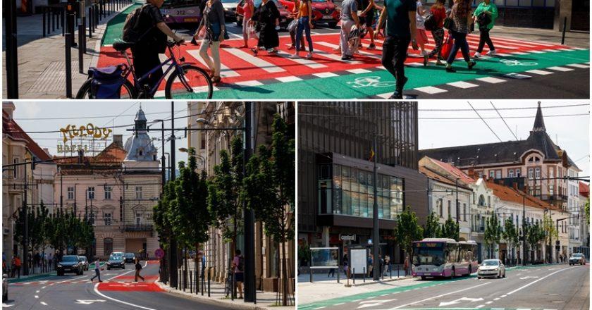 Strada Regele Ferdinand din Cluj-Napoca a fost modernizată cu fonduri europene