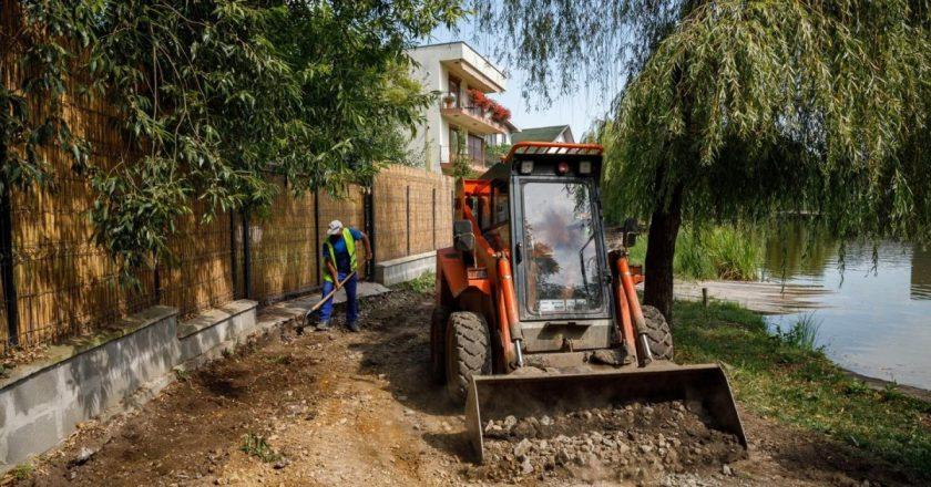 Lucrări de modernizare în jurul Lacului I Gheorgheni din Cluj-Napoca