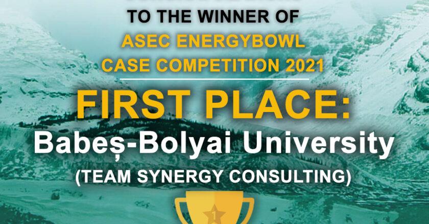 """Studenţii UBB Cluj au câştigat concursul internaţional """"EnergyBowl Case Competition 2021"""""""