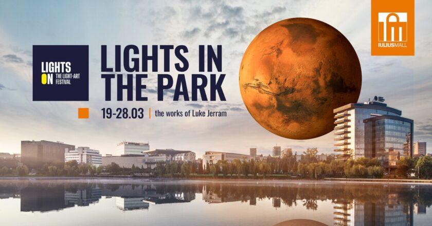 """Lights in the Park aduce la Cluj o nouă instalație luminoasă: """"Marte""""."""