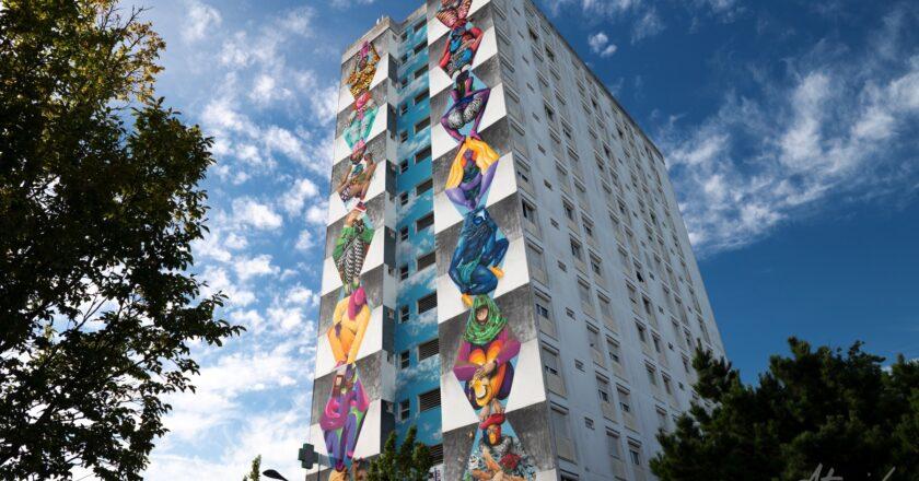Doi artişti din Cluj au realizat pe o clădire din Franţa o pictură murală inspirată din opera lui Constantin Brâncuși