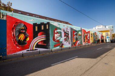 Pictură murală pentru aniversarea a 30 ani de înfrățire între Cluj-Napoca și orașul francez Nantes